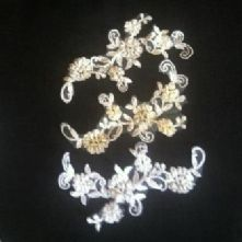 White Beaded Spanish Lace Motif